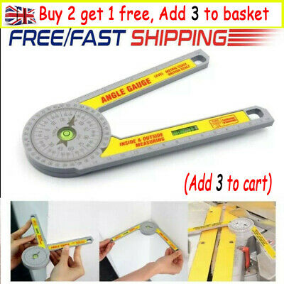 Angle Finder Miter Saw Protractor Measuring Ruler Tool Goniometer Pro Durable L6 • 8.99£