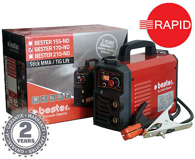 Arc Welder Lincoln Bester 170-ND Inverter Package With Two Year Warranty - 230v • 190£
