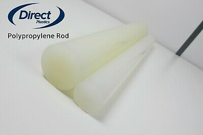 Polypropylene Natural Rod 10mm Dia - 100mm Dia - Solid Round Bar Up To 1m Long • 122.67£
