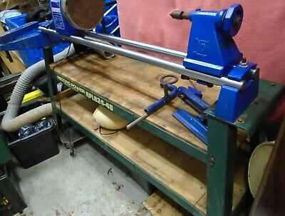 RECORD CL2 36x18 WOODTURNING LATHE WITH RPLB24-48 STAND, DUST EXTRACTION BLANKS • 200£