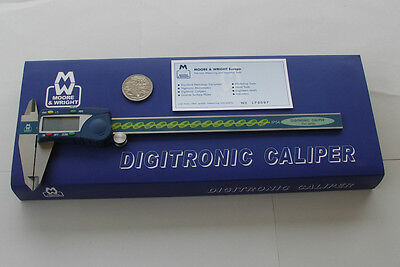 DIGITAL CALIPER WATER RESISTANT 8  / 200mm MOORE & WRIGHT Of SHEFFIELD ENGLAND • 92.39£