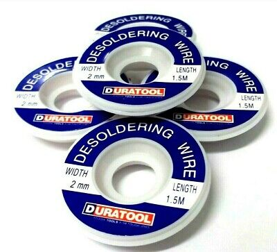Desoldering Braided Wick. 2.0 Mm. Flux Coated. Circuit. 1.5 Metre. *Top Quality! • 14.15£