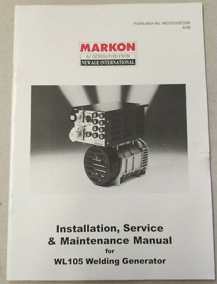 MARKON, New Age International WL105 Installation, Service & Maintenance Manual • 10.99£