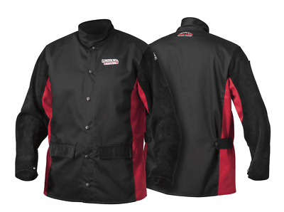 Lincoln Red Line WELDER'S FLAME RETARDANT JACKET Large, Leather Sleeves • 117.48£