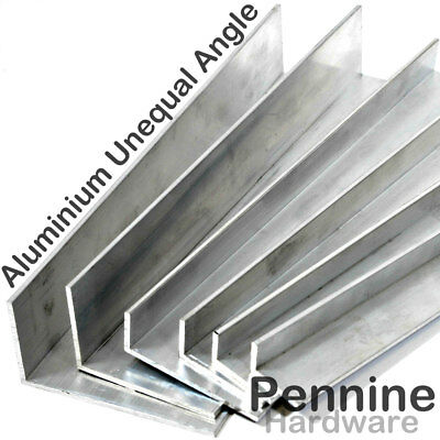 ALUMINIUM UNEQUAL Extruded ANGLE 5 Sizes 9 Lengths Available • 15.68£