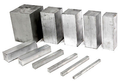 ALUMINIUM SOLID SQUARE BAR 13 Sizes 10 Lengths Available • 8.58£