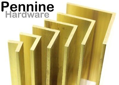 Solid BRASS ANGLE Equal Angle Extruded Excellent Range Of Sizes Bandasw Cut • 4.29£