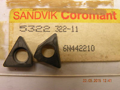 1 Off Sandvik Shim Seating 5322 322-11 For Lathe Threading Screwcutting Tool New • 3.50£