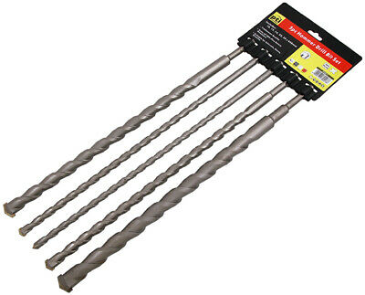 PTI 5pc 450mm Long SDS Hammer Drill Bit Set Sizes 10,12,16,22,25mm • 19.99£