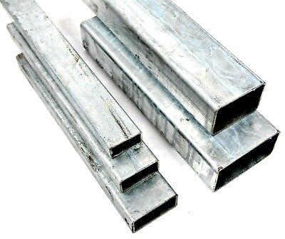 GALVANISED Steel RECTANGULAR Box Section 5 Sizes & 4 Lengths Available • 6.53£