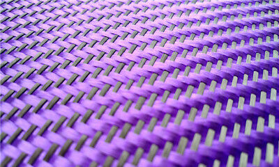 3K Black Carbon Fiber And Purple Aramid Blended Fabric Carbon Cloth Twill Weave • 19.59£