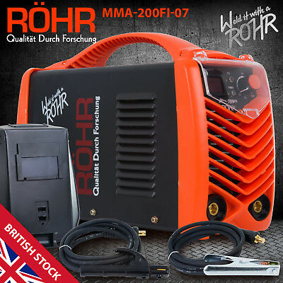 ARC Welder Inverter MMA 240V 200amp DC Portable Stick Welding Machine - ROHR 07 • 139.99£