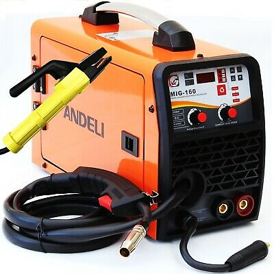 160amp Mig/mag/flux/lift Tig/mma 5 In 1 Dc Inverter Welder Machine Gas Gasless • 209.99£