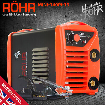 ROHR ARC Welder Inverter MINI 240V 140amp MMA DC Portable Stick Welding Machine • 79.99£