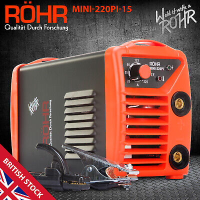 ROHR ARC Welder Inverter MINI 240V 220amp MMA DC Portable Stick Welding Machine • 94.99£