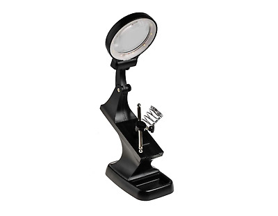 Soldering LED PCB Mini Vice Helping Hand & Magnifier Solder Station Workholder • 84.99£