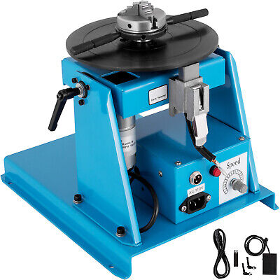 10kg Rotary Welding Positioner Turntable Mini 2.5  3 Jaw Lathe Chuck + Pedal • 179.99£