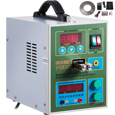 787A+ 2in1 Battery Pulse Spot Welder For 18650 + Battery Charge Test 500A 1.5KW • 109.98£