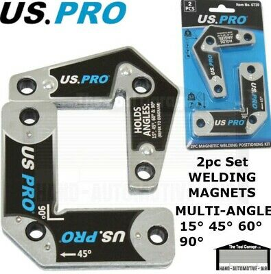 US PRO 2pcs Multi-angle 15° 45° 60° 90° Welding Magnets Holder Position NEW 6739 • 11.75£
