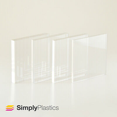 Perspex® Premium Clear Cast Acrylic Plastic Sheet Panel / Various Sizes + Custom • 12.60£