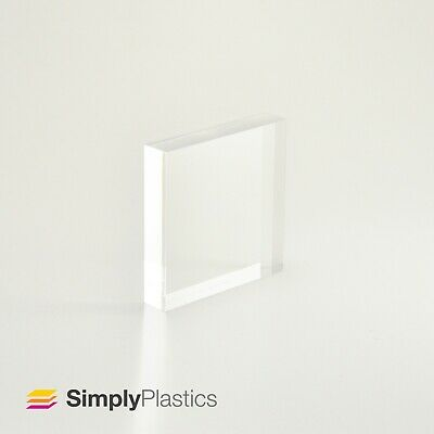 Premium Polished Clear Cast Acrylic Perspex Plastic Block / Various Sizes  • 14.54£