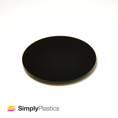 Perspex® Laser Cut Black 962 Acrylic Plastic Disc / Various Metric Diameters • 16.49£