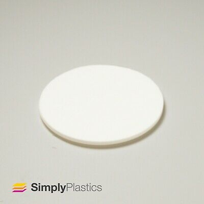 Perspex® Laser Cut White 069 Acrylic Plastic Disc / Various Imperial Diameters • 13.29£