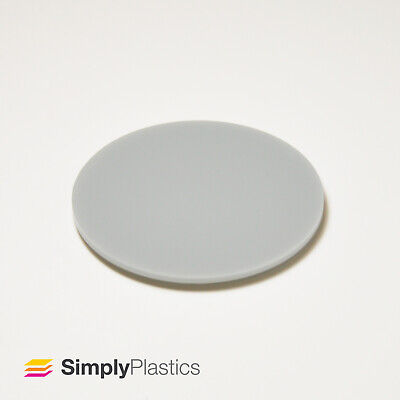 Perspex® Laser Cut Grey 9981 Acrylic Plastic Disc / Various Imperial Diameters • 10.39£