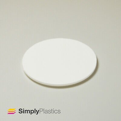 Perspex® Laser Cut Moonlight White Matte Acrylic Plastic Disc / 3mm & 5mm  • 13.93£
