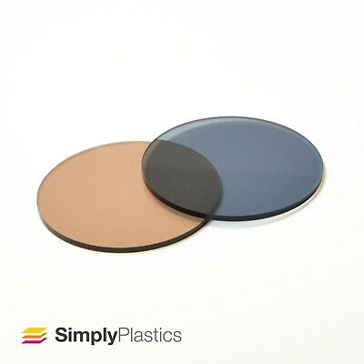 Perspex® Laser Cut Neutrals Tinted Acrylic Plastic Disc Circle / 3mm 5mm 6mm 8mm • 19.65£