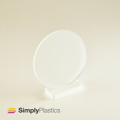 Perspex® Laser Cut Frosted Clear Acrylic Plastic Disc / Various Metric Diameters • 17.66£