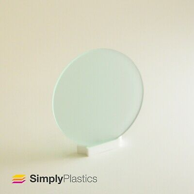 Perspex® Laser Cut Frosted Glass  Look  Green Frost Acrylic Plastic Disc Circle • 15.21£