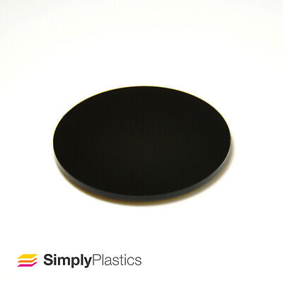 Perspex® Laser Cut Black 962 Acrylic Plastic Discs Circles / Multi-packs • 63.05£
