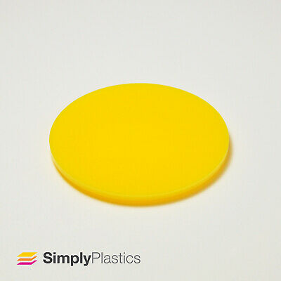 Perspex® Laser Cut Yellow 260 Acrylic Plastic Discs Circle / Multi-packs  • 23.54£