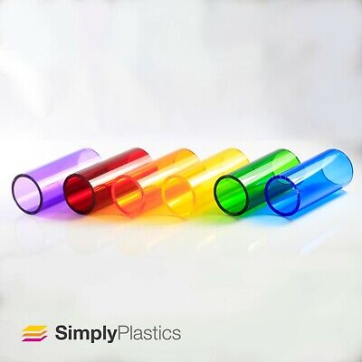 Coloured Tinted Extruded Acrylic Plastic Perspex Tube Pipe / Various Diameters • 36.91£