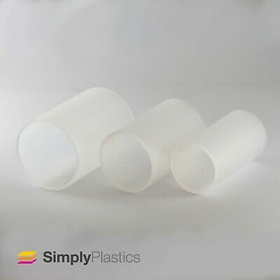 Frosted Extruded Acrylic Plastic Perspex Tube Pipe / Various Diameters • 28.16£