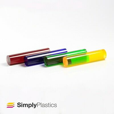 Coloured Tinted Extruded Acrylic Plastic Perspex Rod / Various Diameters • 45.70£