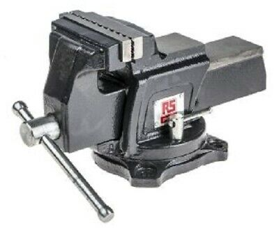 RS Pro GENERAL PURPOSE SWIVEL BENCH VICE 101.6x100mm Integral Anvil, Bolts Mount • 157.36£