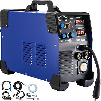 200A MIG / MAG / WIG (TIG) / MMA Inverter Welder 3 In 1 MIG Gas Welding Machine • 204.96£