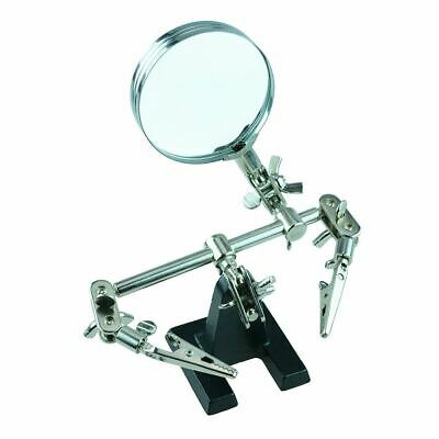 Helping Hand With Magnifier Soldering Solder Tool Electronics • 6.49£