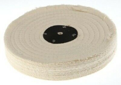 RS Pro SEWN COTTON POLISHING MOP 8-Inch 3-Sections, Bench/Spindle Mounting • 59.73£