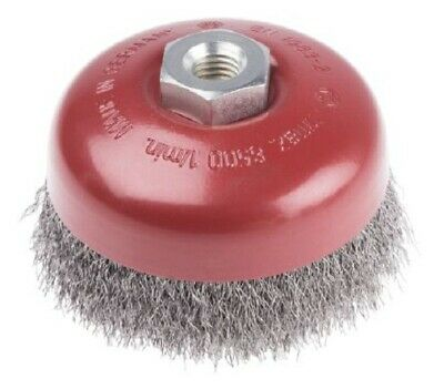RS Pro CRIMPED STEEL ABRASIVE CUP BRUSH 100mm 8500rpm For Removing Rust • 51.28£