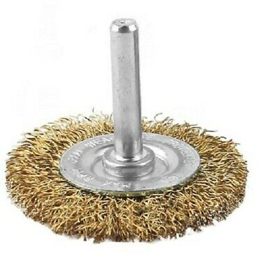 RS Pro CRIMPED WIRE CIRCULAR BRUSH 50mm Diameter 4500rpm, Spindle Mounted • 39.33£
