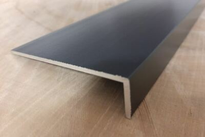 Aluminium Extruded Angle Painted Powder Coated Anthracite RAL 7016 • 38.25£
