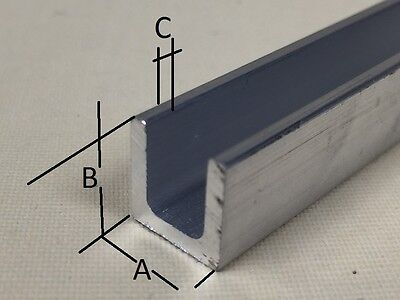 Aluminium U Channel C Profile Various Sizes And Lengths Cut To Size • 25.49£