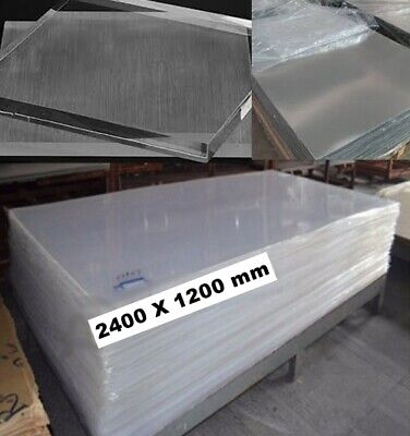 Clear Acrylic Perspex Counter Guard 5/6mm Thick PET Sheet Plastic Panel 8ft X 4f • 99.99£