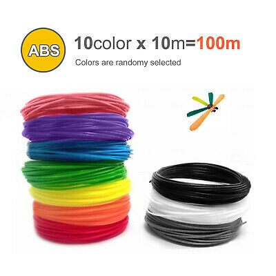 10 Colours 3D Printer Filament 1.75mm ABS/PLA RepRap MarkerBot Print Material • 4.79£