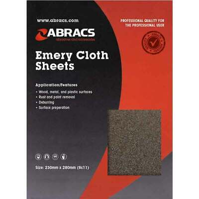 Emery Cloth Abrasive Sandpaper Sheets 40 60 80 100 120 150 280 Grit Pack Of 25 • 11.95£