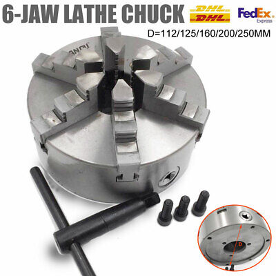 6jaw Lathe Chuck Self-Centering 100/125/160/200/250mm Milling Lathe Processing • 138.99£