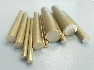 Brass Round Solid Bar Rod From UK - OD 4mm 6mm 10mm 30mm 44.45mm For Machining • 2.40£
